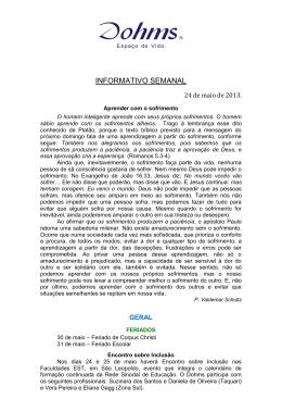 Informativo - 24/05/2013