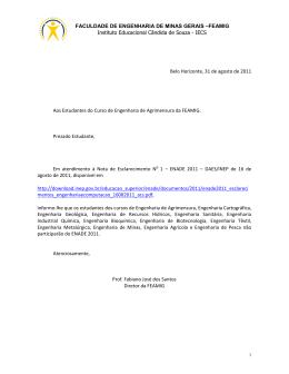 IECS Belo Horizonte, 31 de agosto de