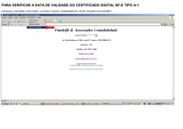 para verificar a data de validade do certificado digital nf-e tipo a-1
