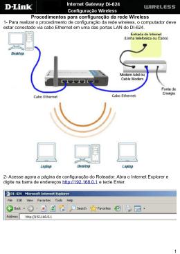 Procedimentos para configuração da rede Wireless - D-Link