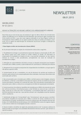 novas alterações ao regime jurídico do arrendamento urbano