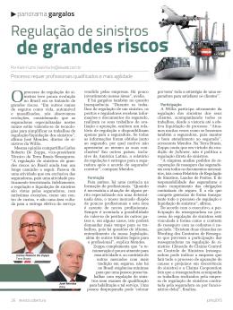 Revista Cobertura - Regulação de sinistros de grandes riscos