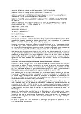 SENHOR GENERAL CHEFE DO ESTADO-MAIOR DA