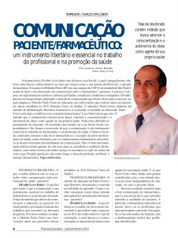 Comunicação farmacêutico- paciente