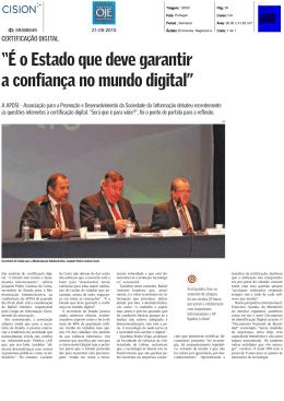 """""""É o Estado que deve garantir a confiança no mundo digital"""""""