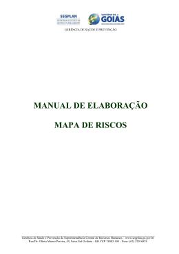 Manual de Elaboração de Mapa Risco