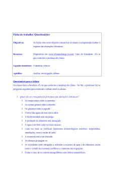 Ficha de trabalho: Questionários