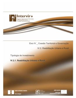 Reabilitação Urbana e Rural - Instituto de Desenvolvimento