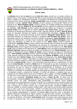 PREFEITURA MUNICIPAL DE PORTO ALEGRE ATA N.º 2444