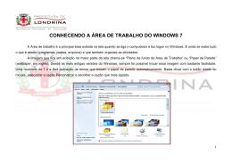 CONHECENDO A ÁREA DE TRABALHO DO WINDOWS 7