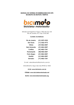 manual do sistema de embreagem dos kits bicimoto de motor 2