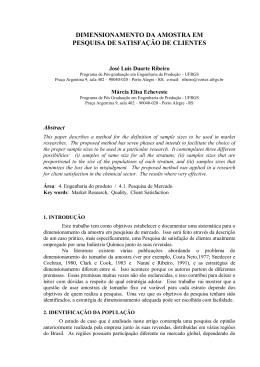 dimensionamento da amostra em pesquisa de satisfação