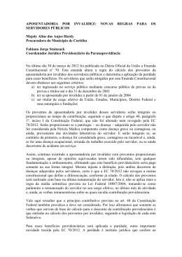 No último dia 30 de março de 2012 foi publicada no Diário