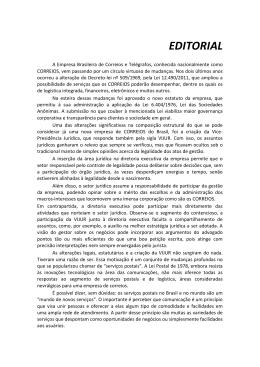 EDITORIAL - Correios