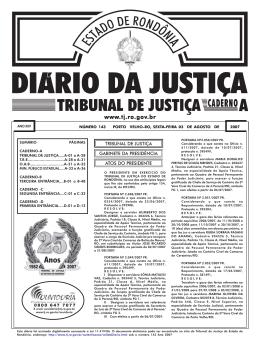 03 - Tribunal de Justiça de Rondônia