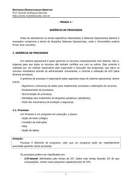 Modulo 1 - Gerenciamento de Processos