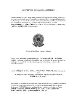 uso indevido do brasão da república - cfje