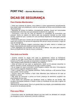DICAS DE SEGURANÇA