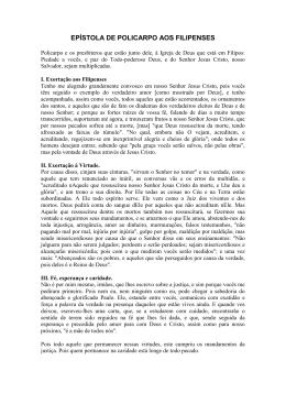 epístola de policarpo aos filipenses