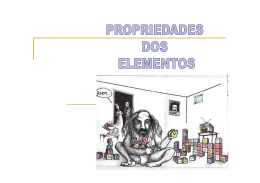 Propriedades periódicas - Docente