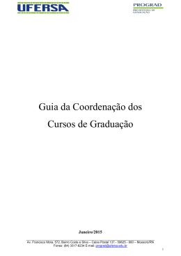Guia da coordenação dos cursos de graduação - prograd