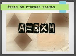 ÁREAS DE FIGURAS PLANAS - Cursinho Comunitário Pimentas