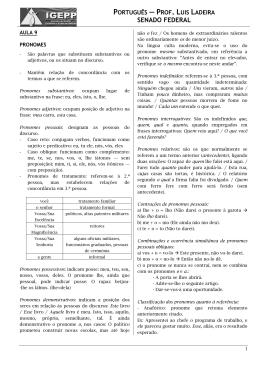 português — prof. luis ladeira senado federal