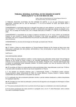 TRIBUNAL REGIONAL ELEITORAL DO RIO GRANDE DO NORTE