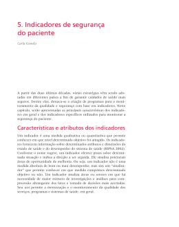 5. Indicadores de segurança do paciente