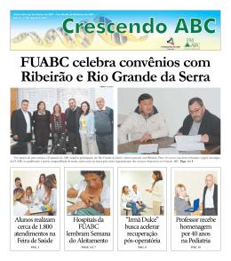 FUABC celebra convênios com Ribeirão e Rio grande da serra