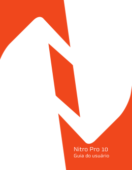 Nitro Pro 10 | Guia do usuário