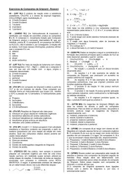 Exercícios de Compostos de Grignard - Rossoni