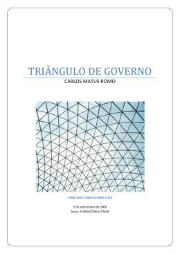 Triangulo de Governo - Strategia Consultores