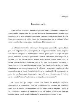 (Tradução) Interpelação escrita Uma vez que o Governo decidiu