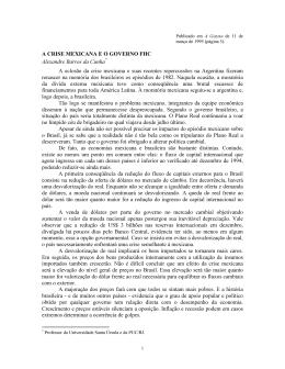 A Crise Mexicana e o Governo FHC.