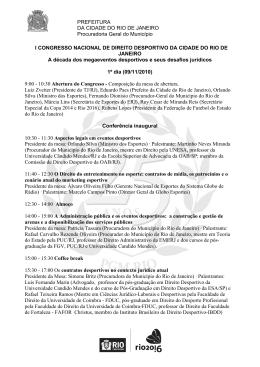 PREFEITURA DA CIDADE DO RIO DE JANEIRO Procuradoria