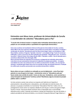 Entrevista com Xésus Jares, professor da Universidade da Coruña e