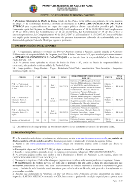 Concurso Público da Prefeitura de Paulo de Faria
