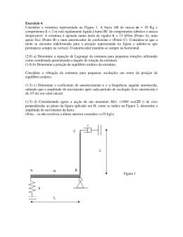 Exercício 4 Considere a estrutura representada na Figura 1. A barra