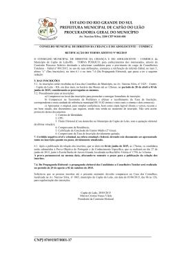 retificação do termo aditivo nº 002 2015