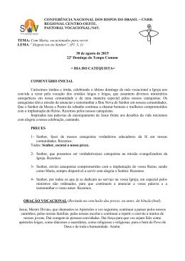 CONFERÊNCIA NACIONAL DOS BISPOS DO BRASIL – CNBB