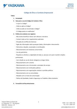 Código de Ética e Conduta Empresarial