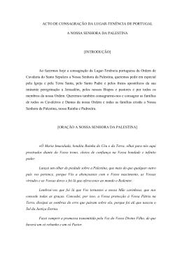 Acto de Consagração da Lugar-Tenência de Portugal