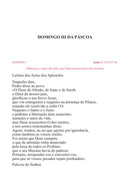 DOMINGO III DA PÁSCOA - Paróquia de Vila do Conde