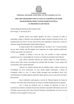 justiça eleitoral tribunal regional eleitoral do rio grande do sul