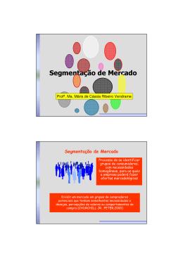 Capítulo 5 - Segmentação de Mercado