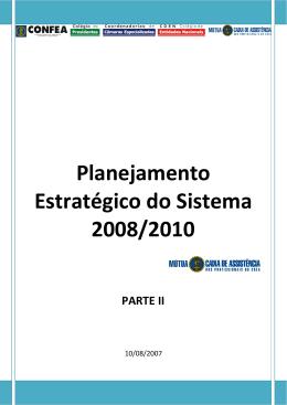 Planejamento Estratégico do Sistema 2008/2010