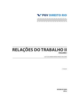 relações do trabalho ii - FGV Direito Rio