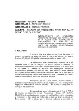 Processo PGT/CCR/nº 30/2004