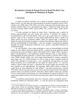 Revisitando a Função de Reação Fiscal no Brasil: uma